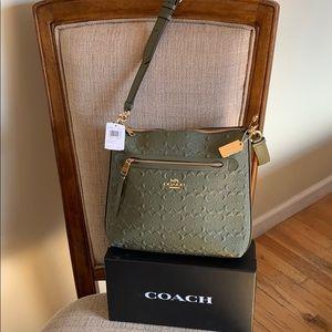 Coach Signature Leather Mae Crossbody